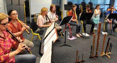 Les musiciens de Sénart en répétition au conservatoire