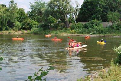 activité kawak sur les lacs
