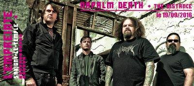 image de couverture de NAPALM DEATH + THE DISTANCE