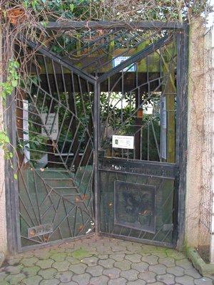 Le portail du jardin intérieur