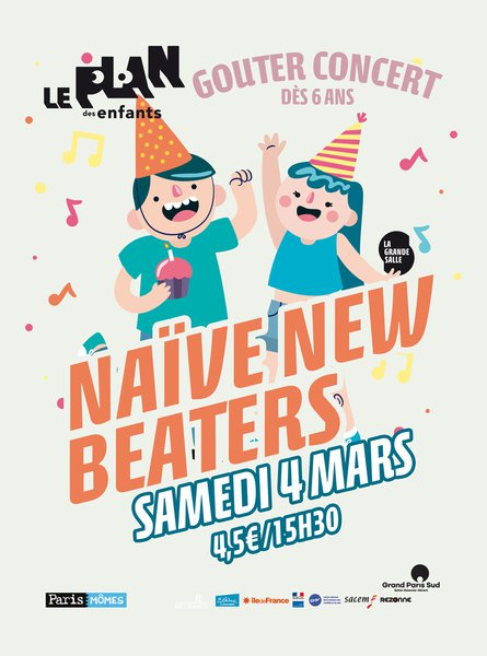 Gouter concert avec naive new beaters