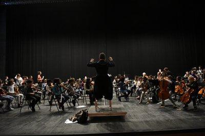 Répétition au Théâtre Sénart