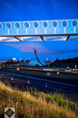 L'EPA Sénart a mené, cette semaine, des travaux pour l'installation d'une passerelle au-dessus de l'autoroute A5a