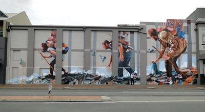 image de couverture de Fintan Magee : l'une des figures les plus importantes du street art et de l'art contemporain australien au Wall Street Art festival