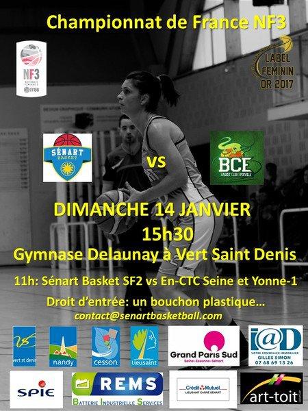 image de couverture de BASKET N3 - Sénart reçoit le Basket Club Epouville (76)