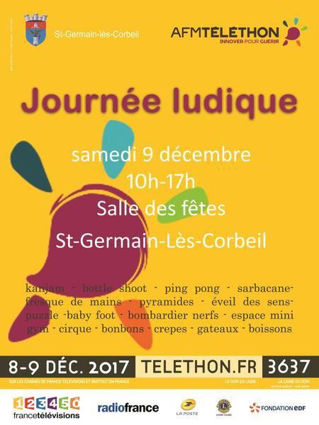 image de couverture de Téléthon 2017 - Journée ludique à Saint Germain-lès-Corbeil
