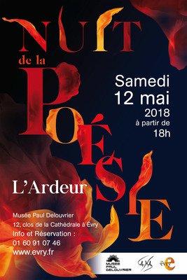 """image de couverture de Nuit de la poésie 2018 """"L'Ardeur"""""""