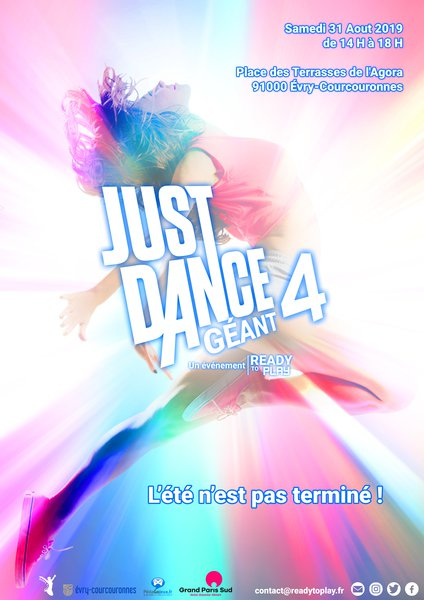 Affiche just dance g%c3%a9ant 4