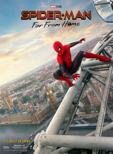 Spider man far from home affiche