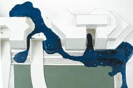 Maquette Le déambulatoire, Evry 1973, Andrault & Parat et Pierre Sirvin architectes, carton et résine époxy, échelle 1100e, 100 x 65 x 4, colle.jpeg