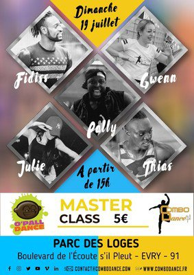 Masterclass Combo Dance Evry Pally Pelofe, Julie vandjour, Fidiss, Gwenn, Thias